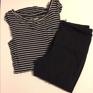 •Striped Hollister T-Shirt•